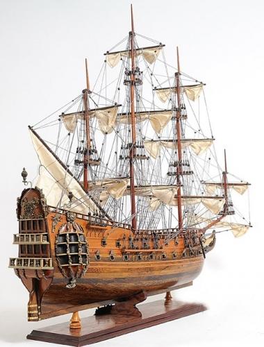 Hms fairfax tall ship wood model
