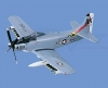 A-1H AD-6 Skyraider Navy Model Aircraft